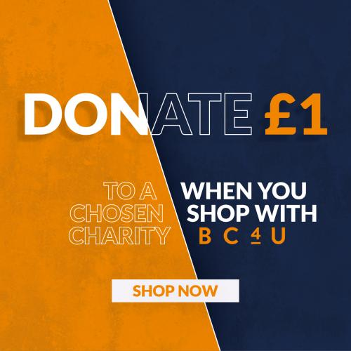 Donate £1 to a chosen charity when you shop with us!