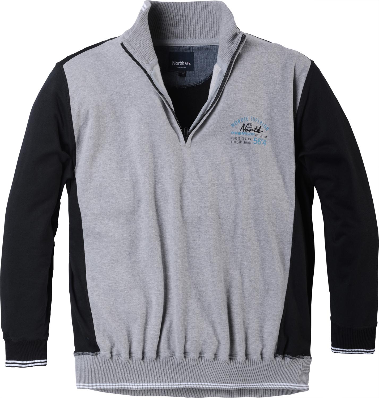 Allsize Sweat with Zip - Grey