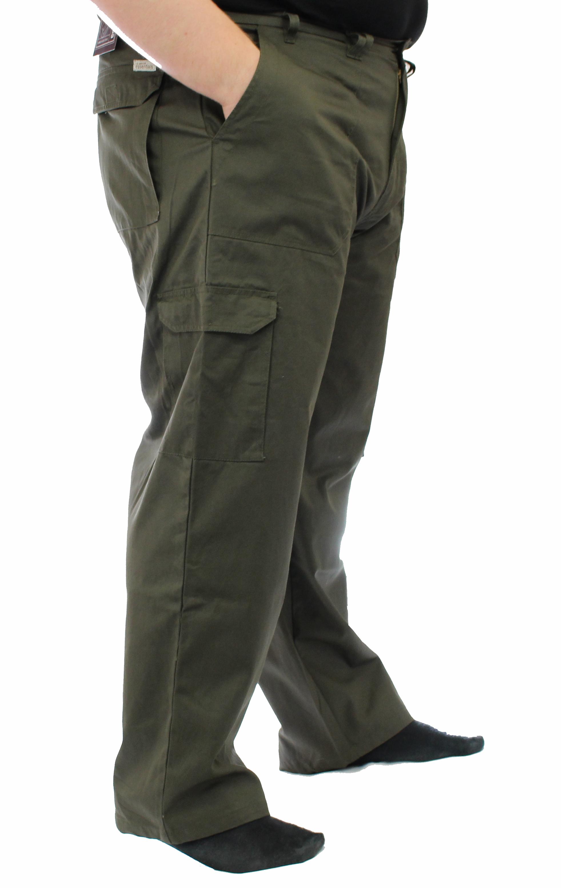 "Ed Baxter Victory - Heavy Duty Cargo Combat Trousers - Khaki - 64"" Waist, 34"" Leg"