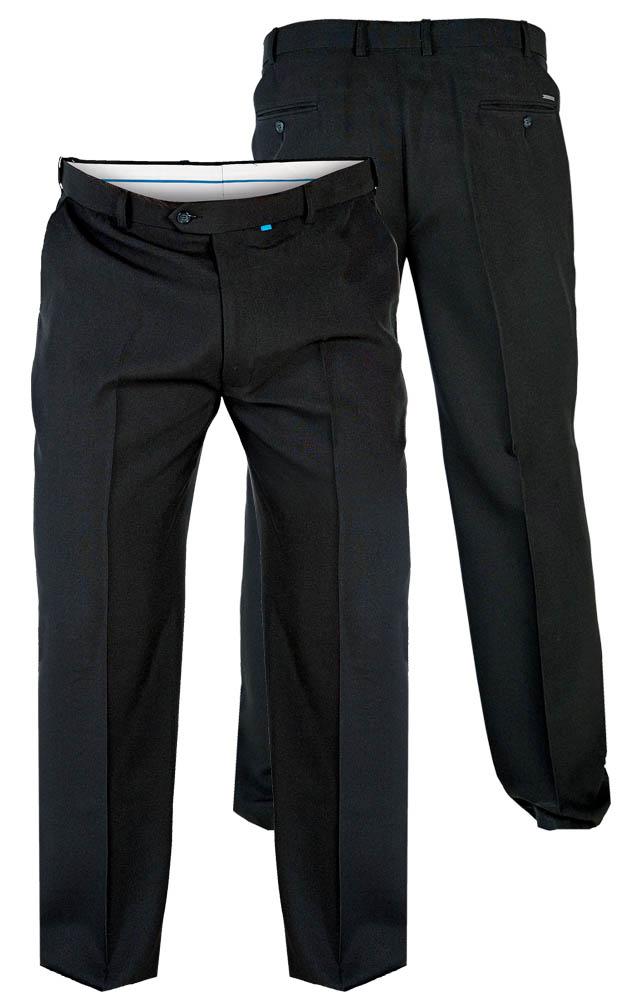 """D555 Max Flexi Waist Trouser - Black 68"""" Waist 30"""" Leg"""
