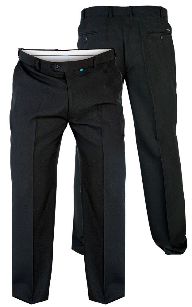 """D555 Max Flexi Waist Trouser - Black 48"""" Waist 30"""" Leg"""