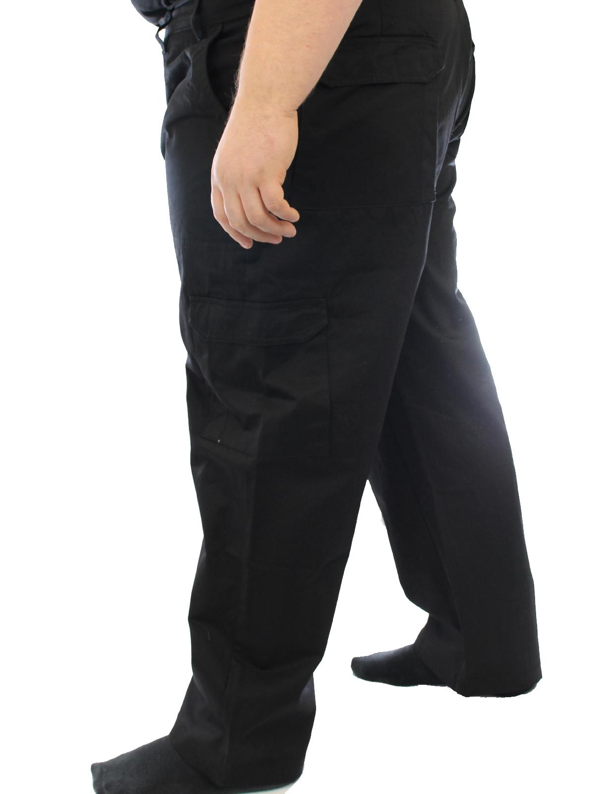 "Ed Baxter Victory - Heavy Duty Cargo Combat Trousers  - Black - 60"" Waist, 34"" Leg"