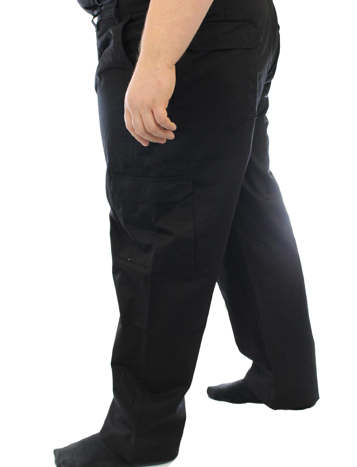 "Ed Baxter Victory - Heavy Duty Cargo Combat Trousers - Black - 62"" Waist, 30"" Leg"