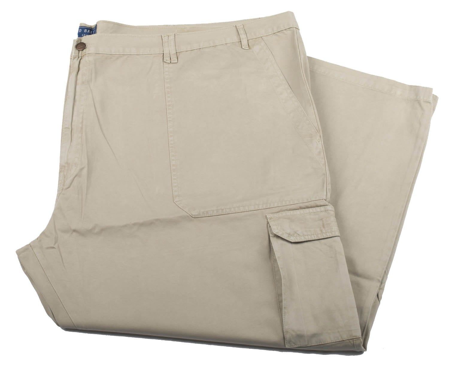"""Ed Baxter Victory - Tall 38"""" Leg Heavy Duty Cargo Combat Trousers - Putty"""
