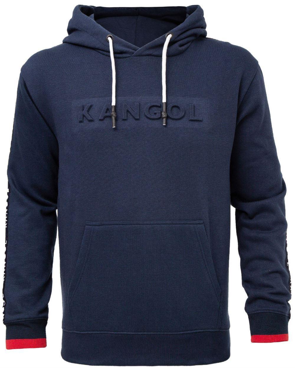 Kangol Troy Overhead Hoody With Embossed Logo - Navy 2XL