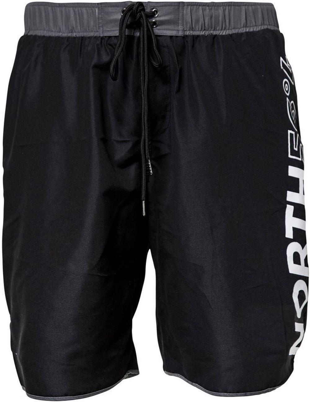 North564 Swim Shorts With Distinctive Logo - Black