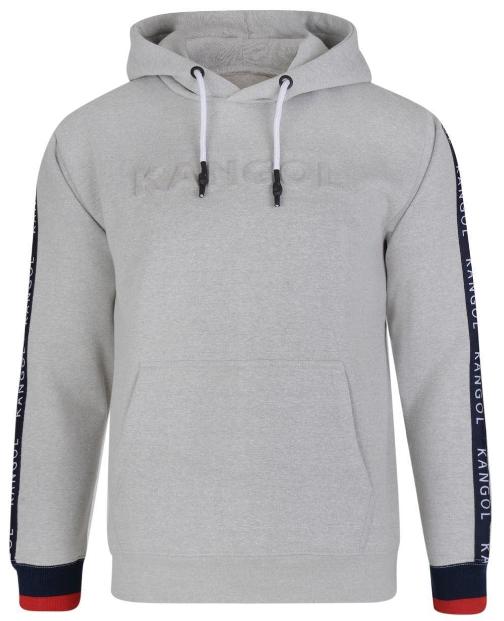 Kangol Troy Overhead Hoody With Embossed Logo - Grey 2XL