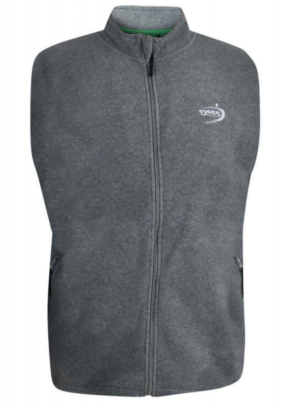 D555 Benjamin Full Zipper Antipeel Fleece Gilet Charcoal|4XL