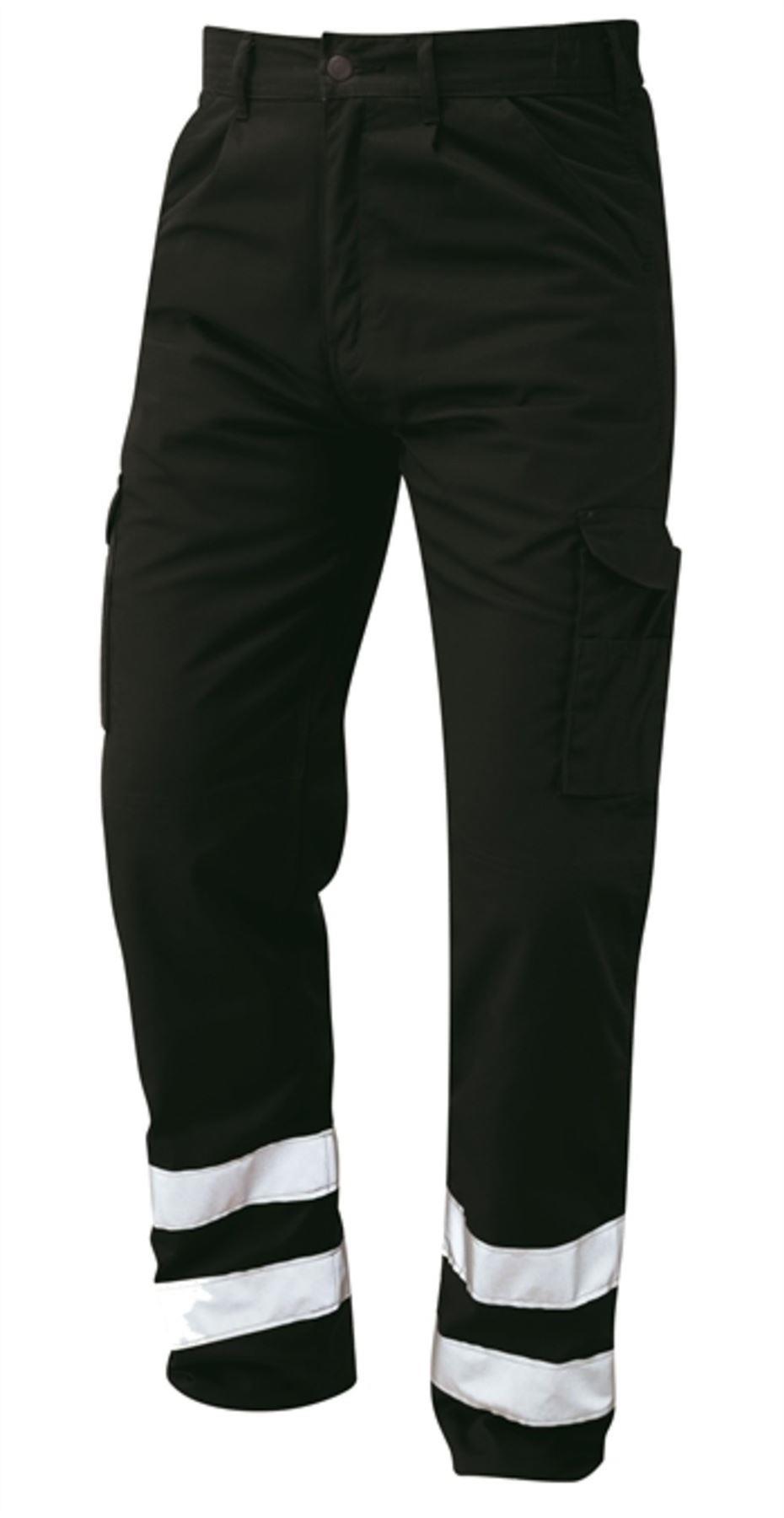 Orn Condor Hi Vis Kneepad Trousers - Black|56W35L