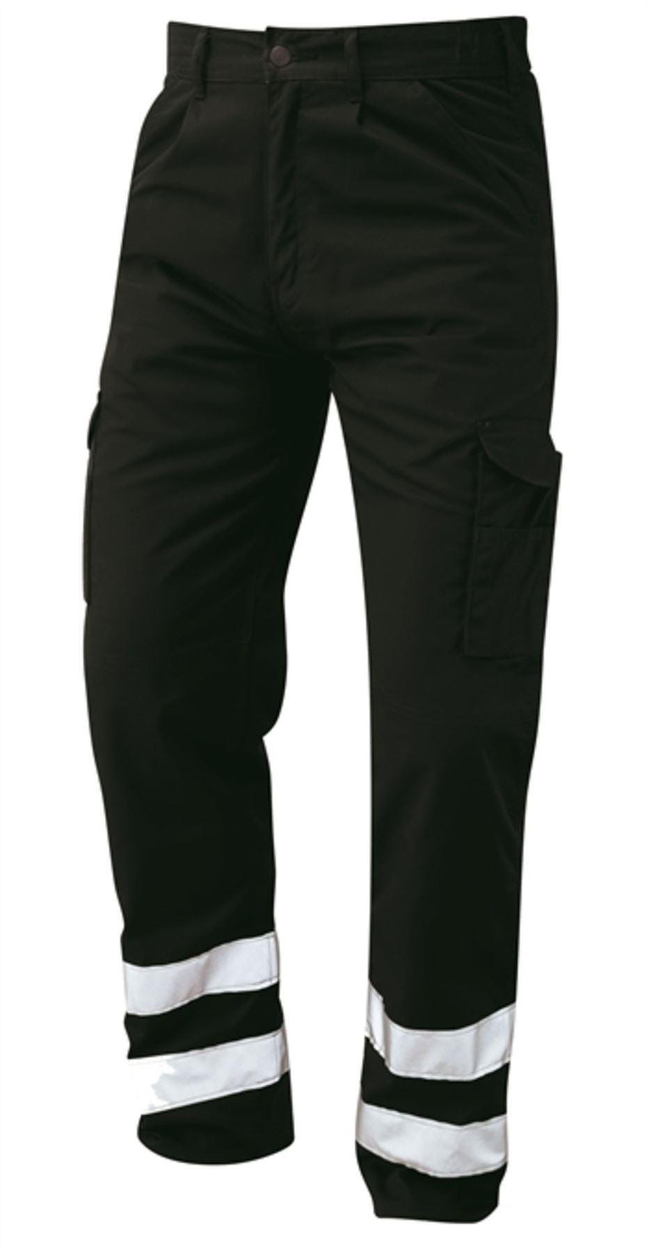 Orn Condor Hi Vis Kneepad Trousers - Black|46W35L