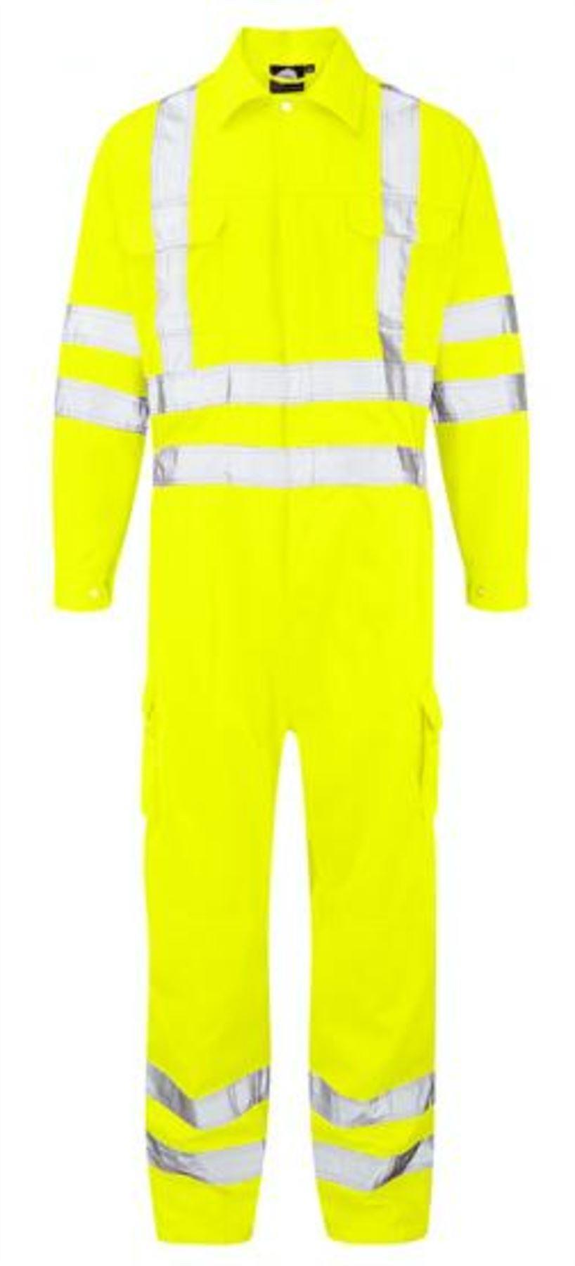 Orn Shrike Hi Vis Overall - Yellow 4XL32L