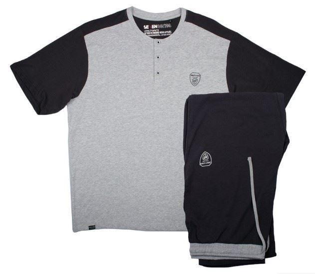 Loyalty and Faith Seattle Top & Bottom Loungewear Set Grey & Black