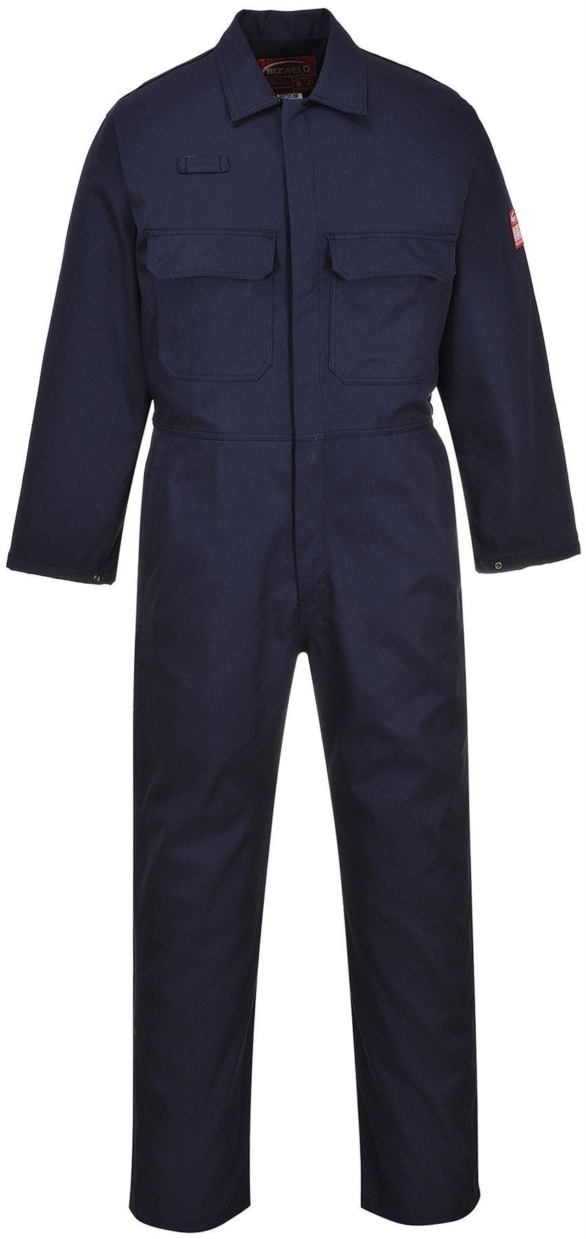 Portwest Bizweld Flame Resistant Coverall - Navy