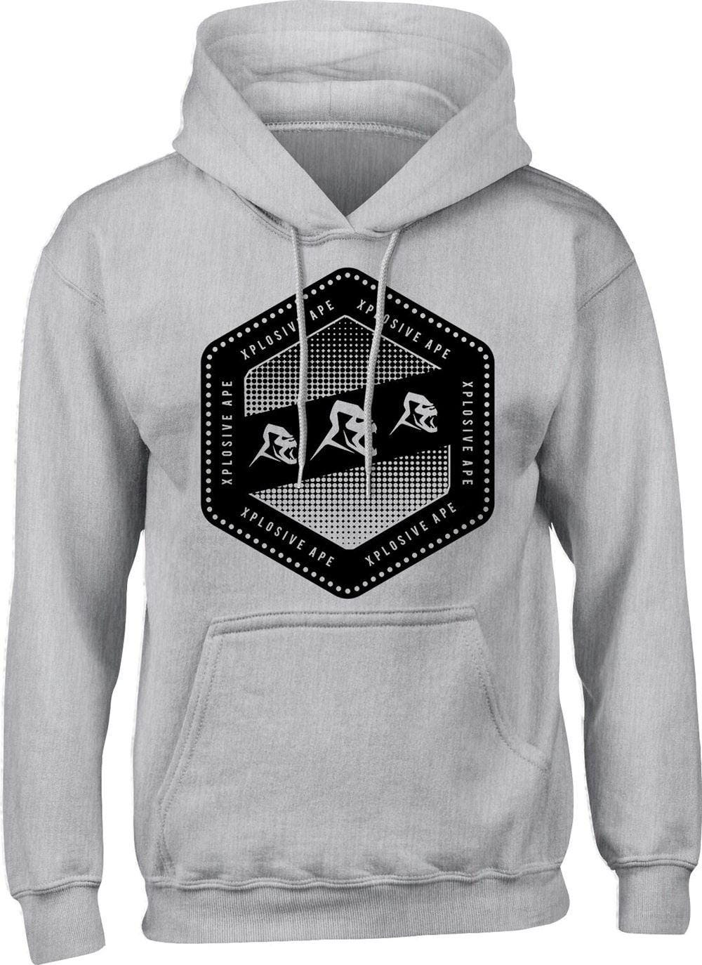 Clothing & Accessories Xplosive Ape Raze Hoody With Pockets - Grey|5XL