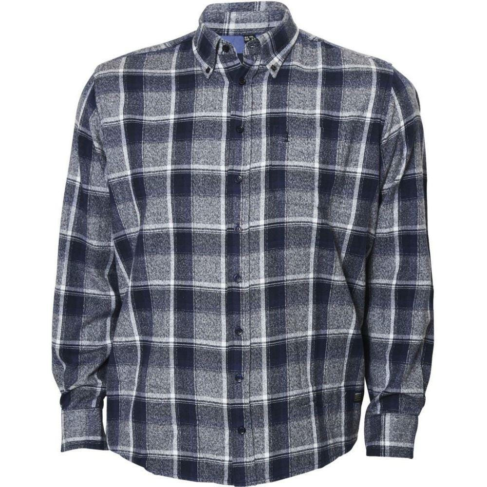 North 56°4 Long sleeve Checked Shirt in Blue|4XL