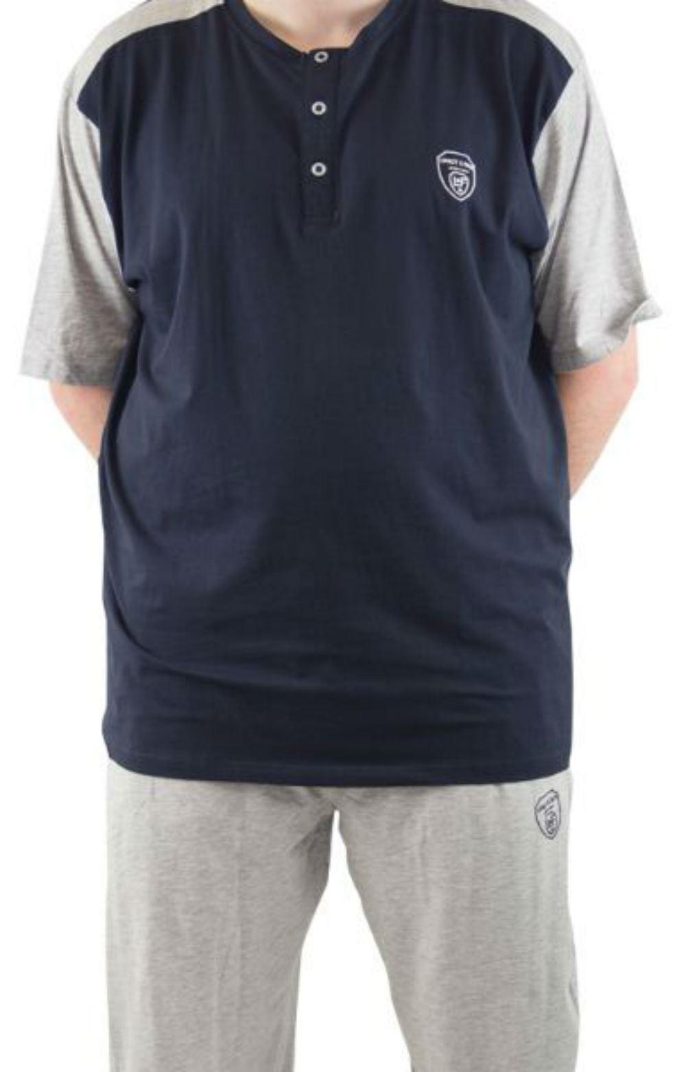 Loyalty and Faith Seattle Top & Bottom Loungewear Set Navy & Grey|2XL