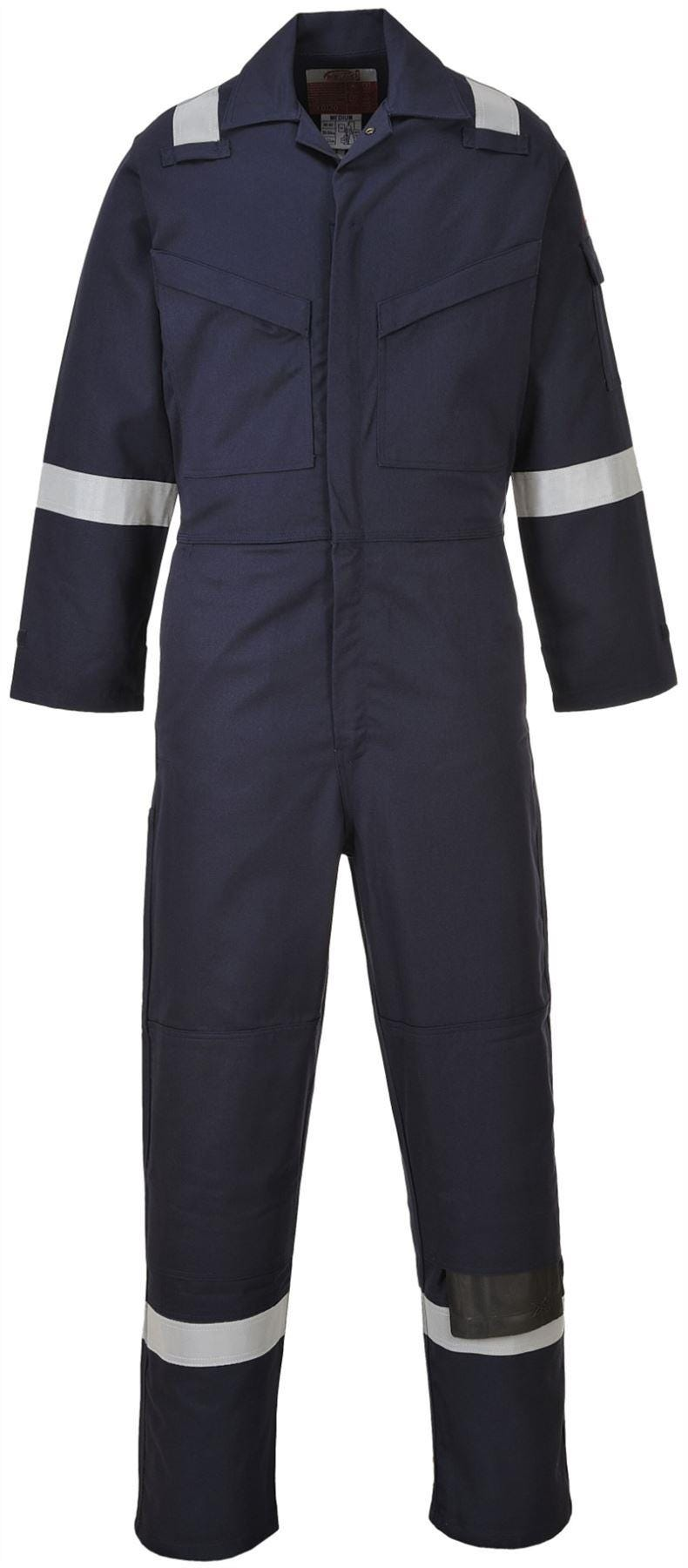 Portwest Flame Resistant Anti-Static Overall - Navy