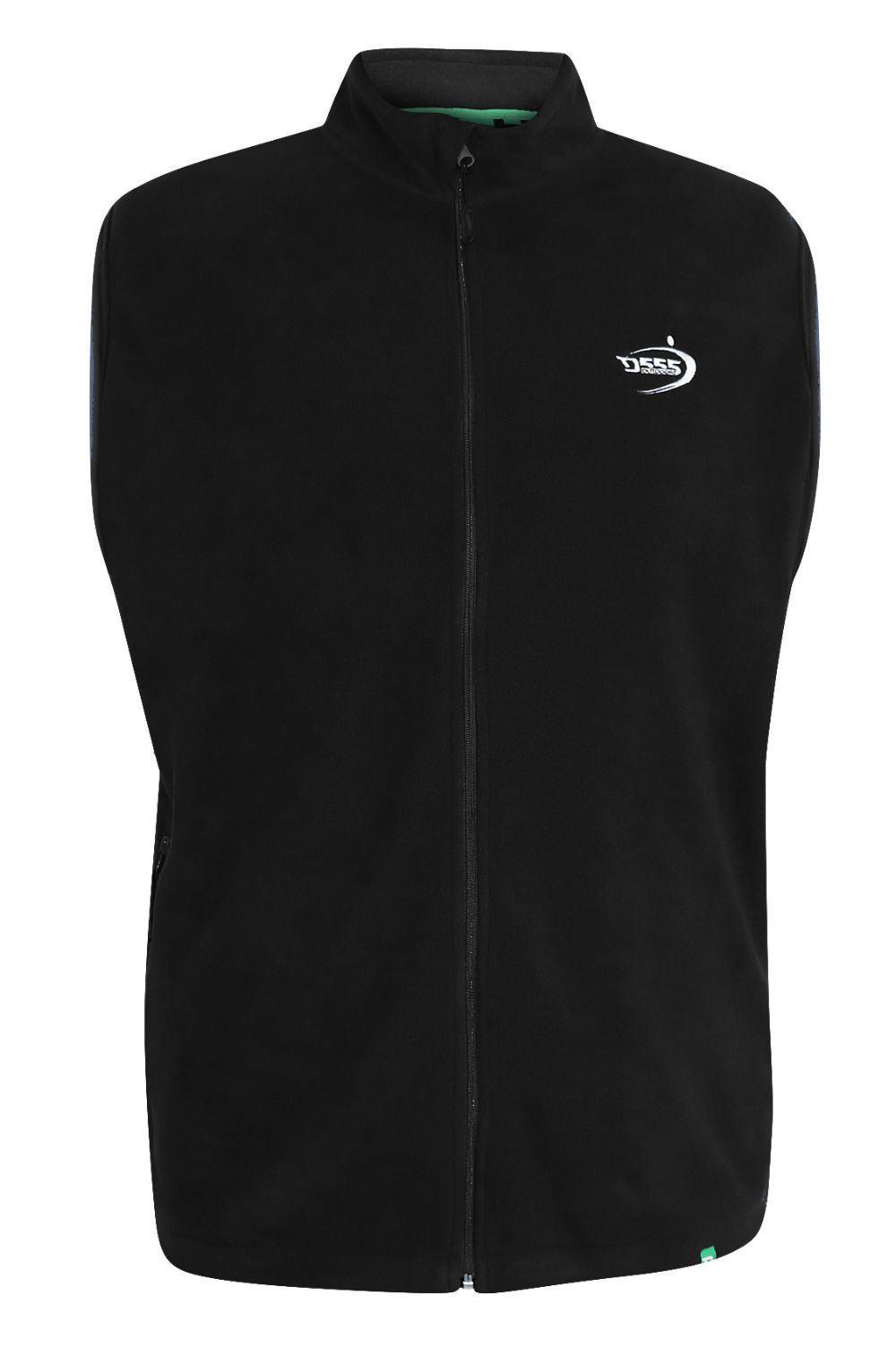 D555 Benjamin Full Zipper Antipeel Fleece Gilet Black
