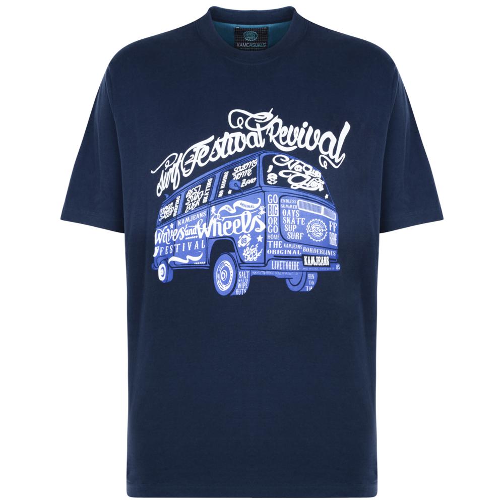 Kam Festival Combi Wagon T-Shirt - Navy