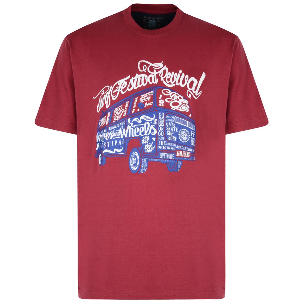 Kam Festival Combi Wagon T-Shirt - Red