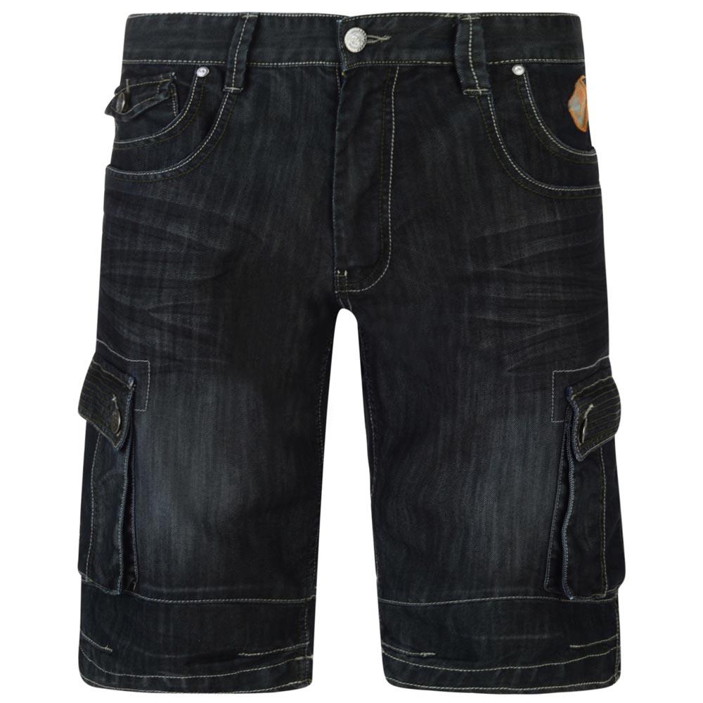 Kam Hector Cargo Denim Shorts|Black|56