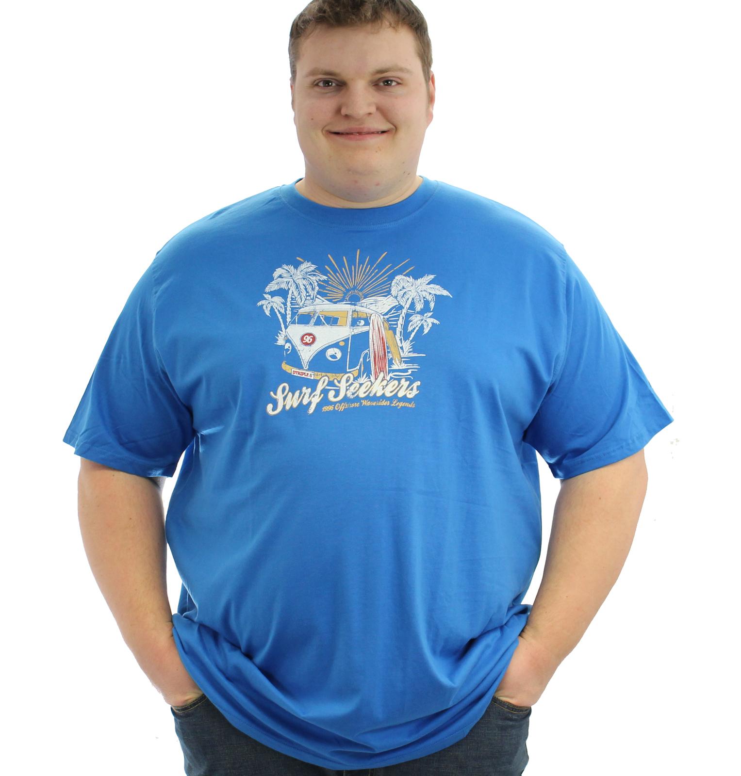 D555 Magnus Camper Van T-Shirt - Blue