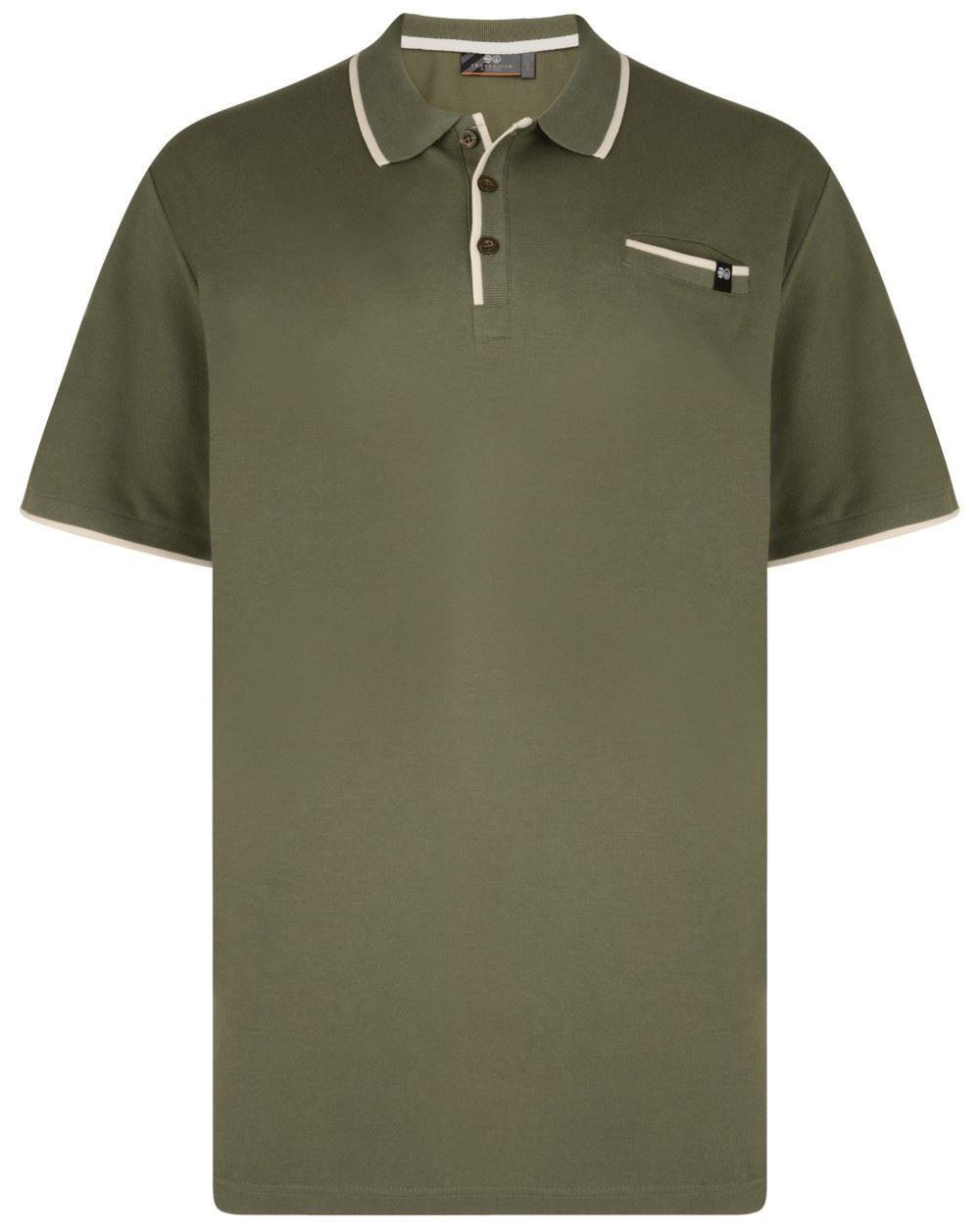 Crosshatch Resernate Polo Shirt - Khaki|5XL