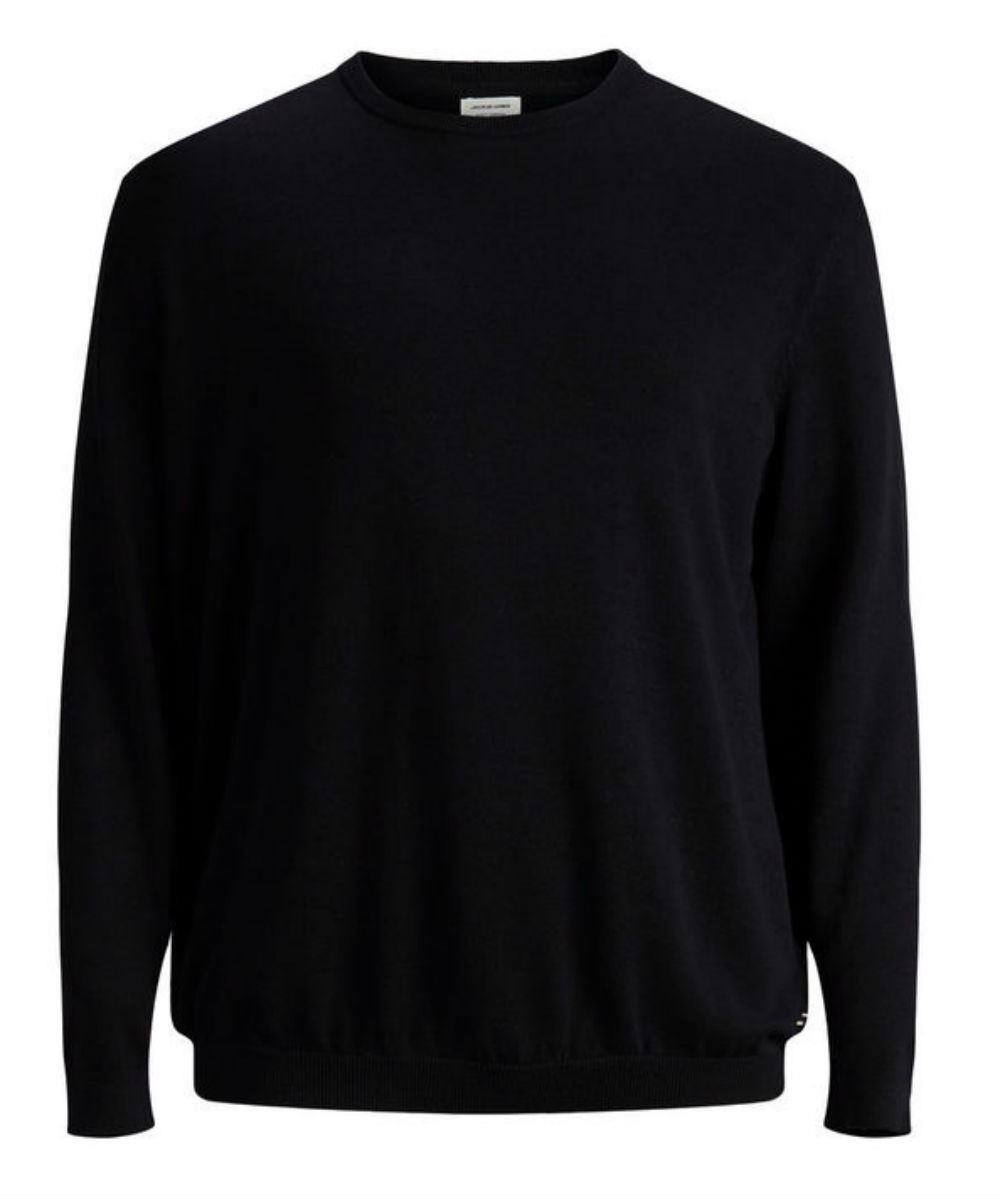 JACK   amp; JONES Plus Size Basic Pullover - Black 4XL