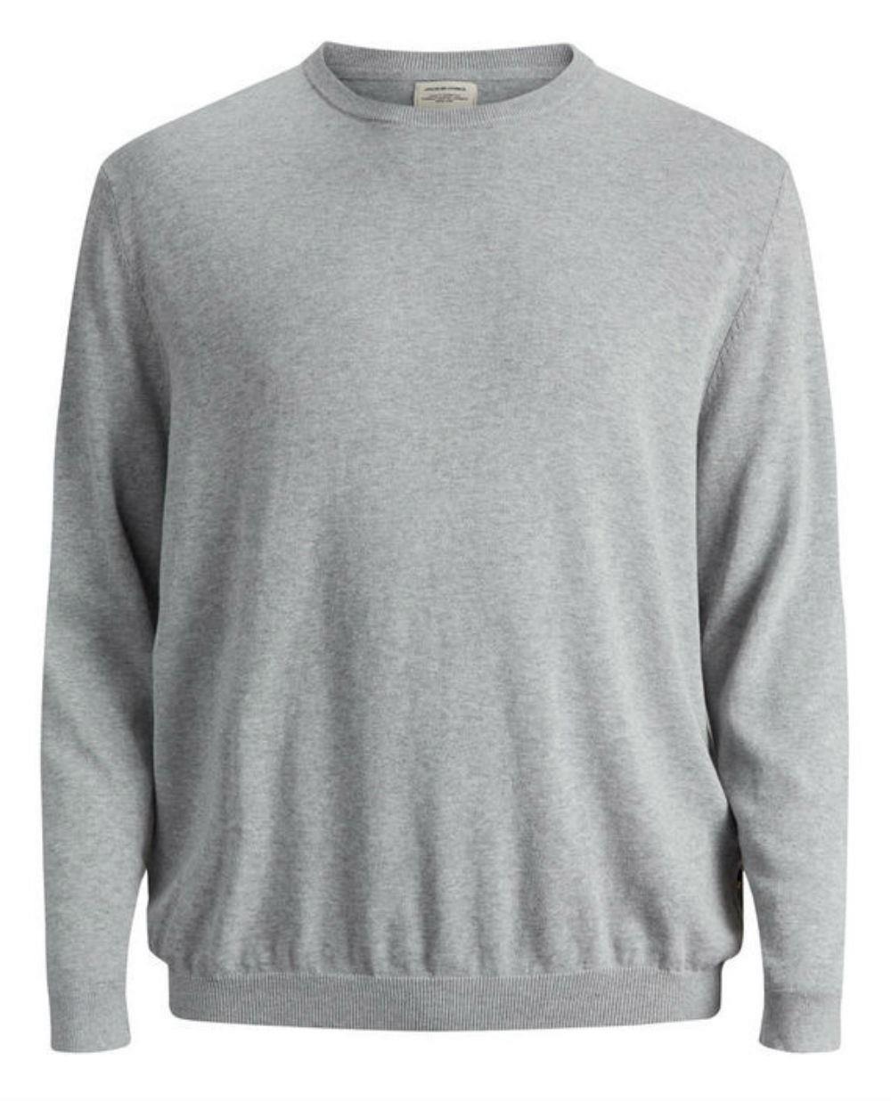 JACK   amp; JONES Plus Size Basic Pullover - Grey