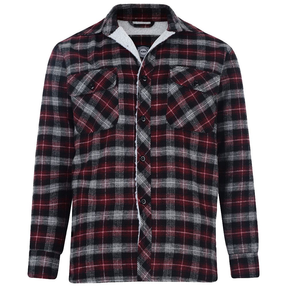 Kam flannel sherpa lined shirt big 3xl 4xl 5xl 6xl 7xl 8xl for Sherpa lined flannel shirt