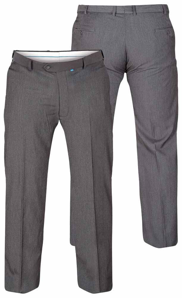 """D555 Supreme Flexi Waist Trousers - Grey 48"""" Waist 30"""" Leg"""