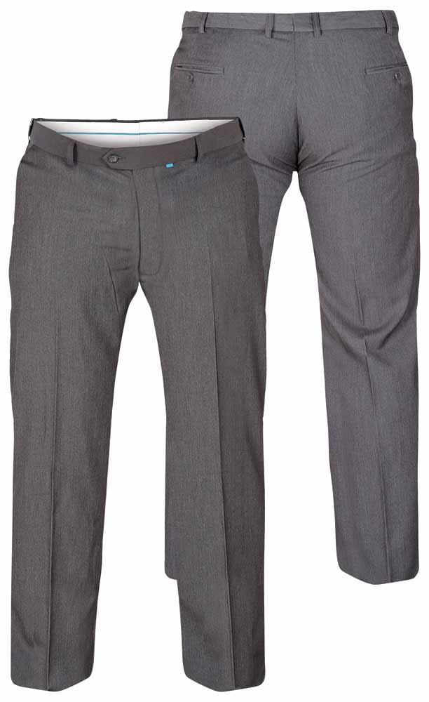 """D555 Supreme Flexi Waist Trousers - Grey 52"""" Waist 30"""" Leg"""