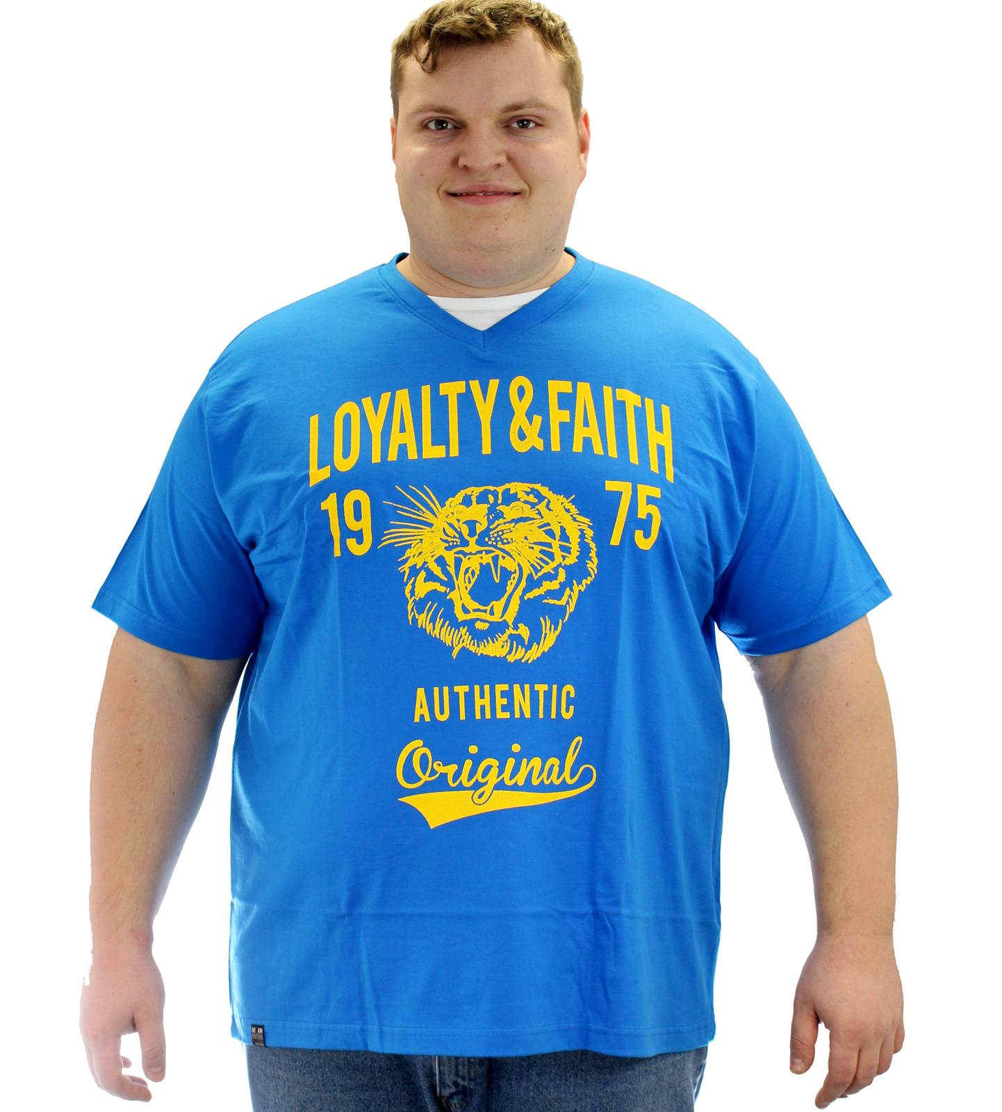 Loyalty & Faith Mortimer V Neck T-shirt - Royal Blue