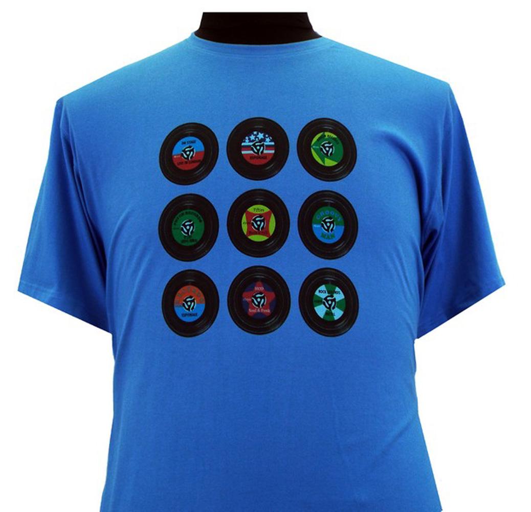 Espionage Vinyl Disc T-Shirt - Blue