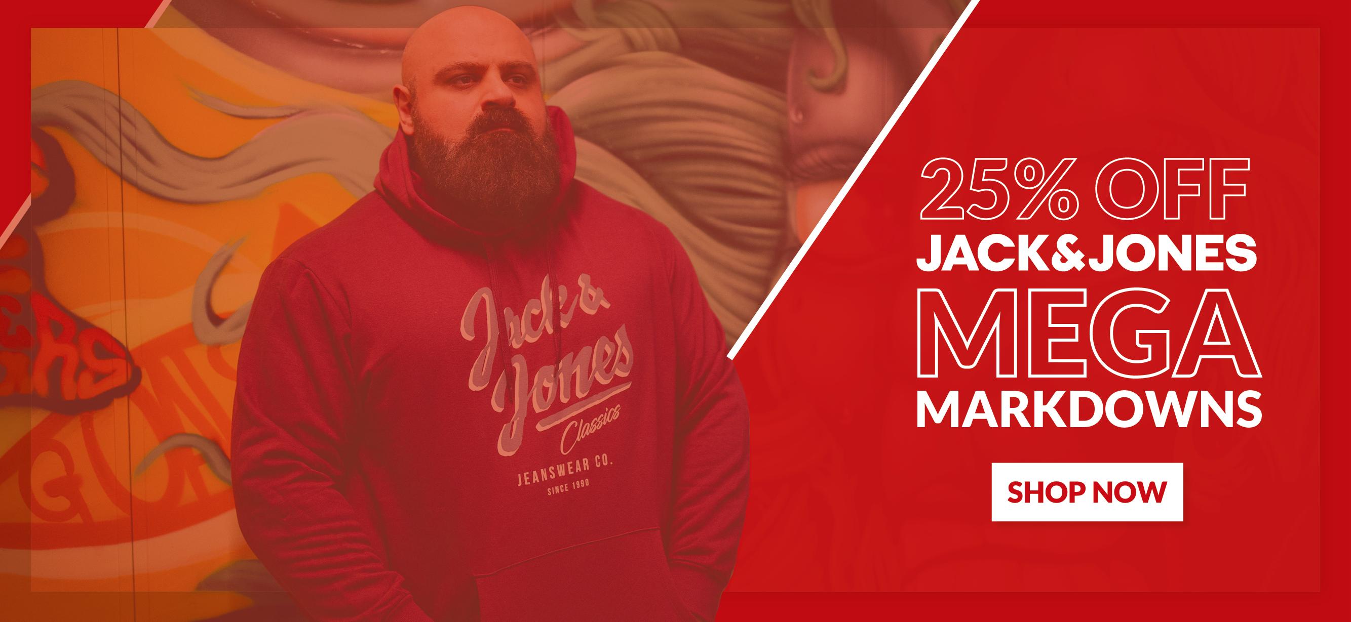 25% Off Jack & Jones Brand Big Men's Clothing