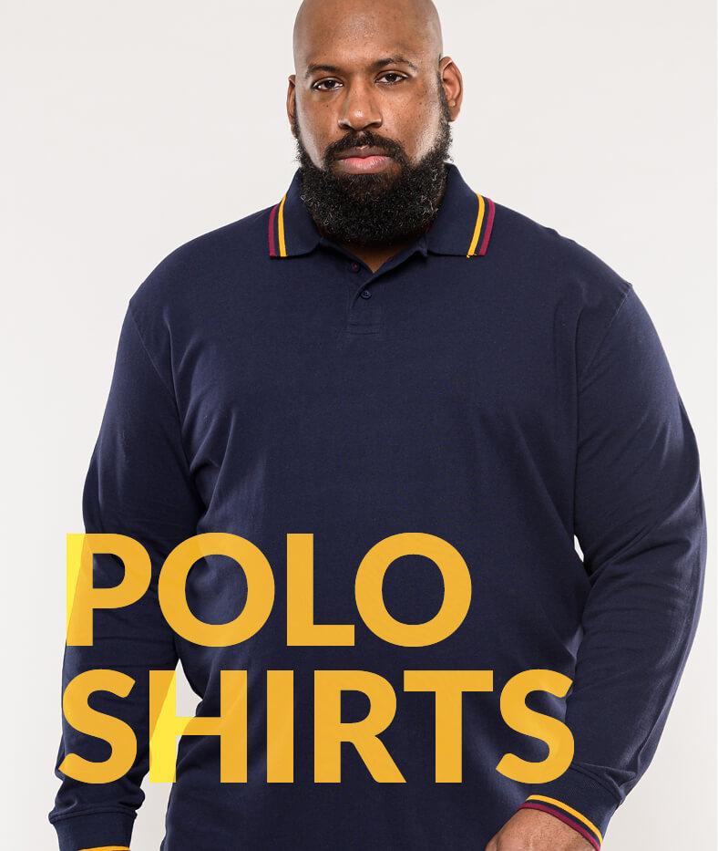 Shop Big Men's Polo shirts