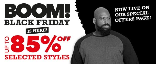 Black Friday 85% off