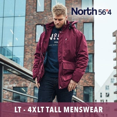 Tall men's 2019 collection up to 4XLT