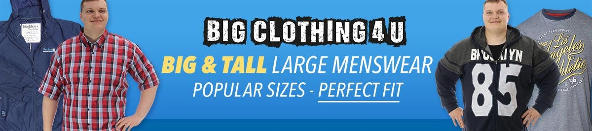 Big and large menswear 2XL - 8XL