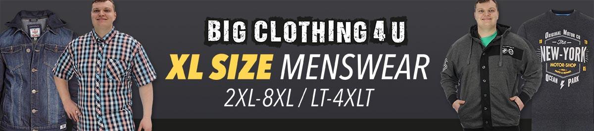 Extra large big size menswear